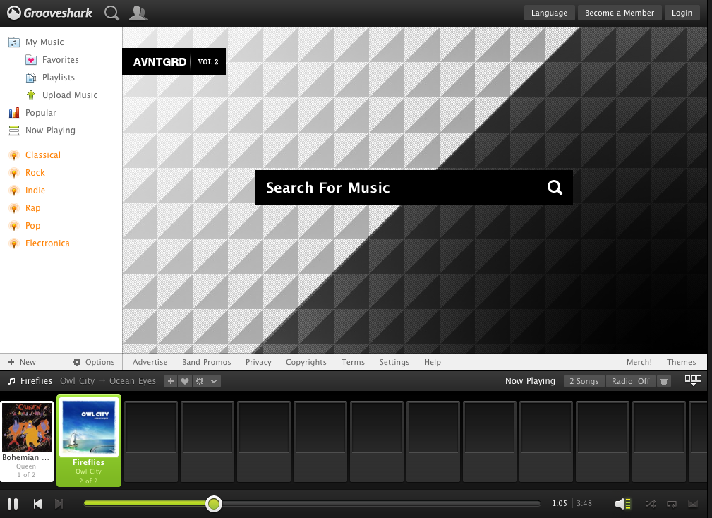New HTML5 Grooveshark Interface