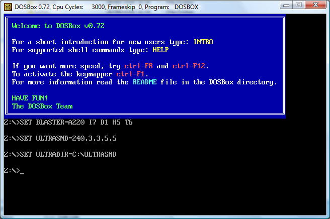 DOSBox on Windows
