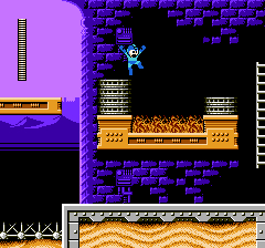 A Screenshot of Megaman on Nestopia