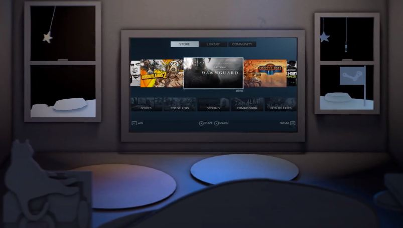 Steam introduces big picture brings games and friends to for Big game room
